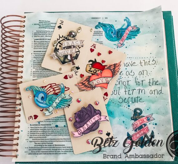 Tattooed Bible Page and ATCs
