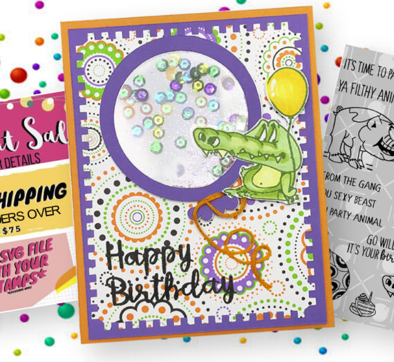 Happy Birthday Alligator Shaker Card