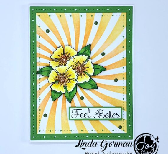 Spring Floral Basket Stamped Card