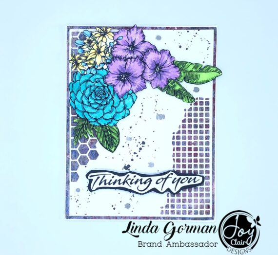 Thinking on you stamped cards