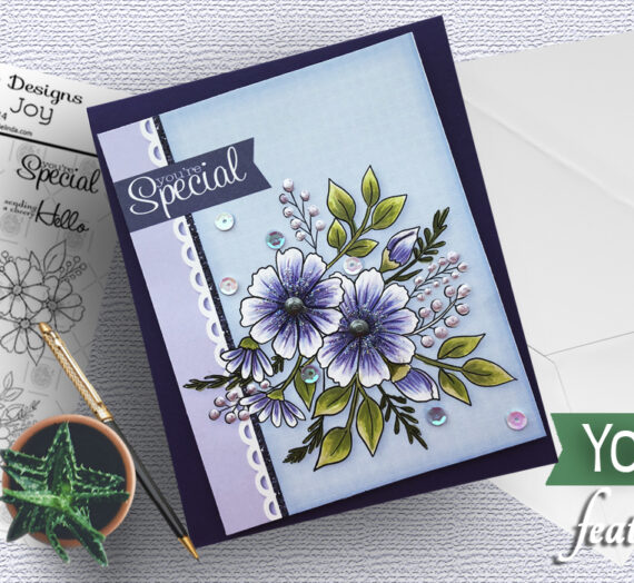 Easy Digital Card with Floral Joy