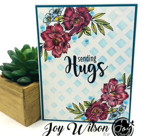 Joy Clair Floral Friendship Stenciled Card