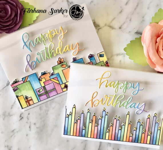 See through birthday cards using Make a Wish