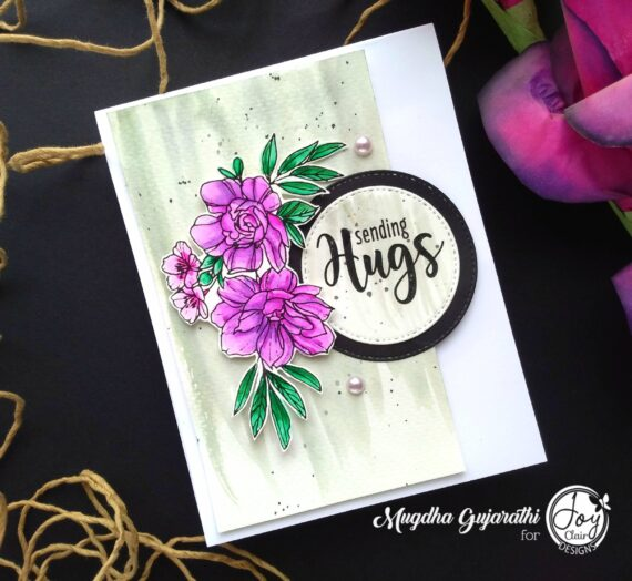 Floral Friendship stamped card