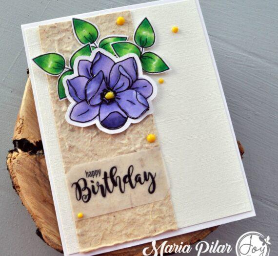 Easy layering birthday card