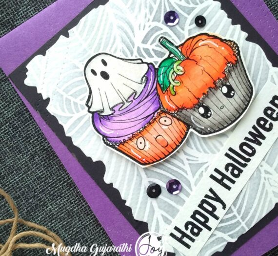 Halloween card using Sweet Halloween Digital stamp