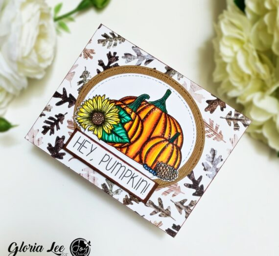 Coloring with color pencils using Hey Pumpkin stamp