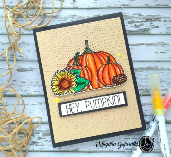 Quick Autumn card using Hey Pumpkin Stamp set