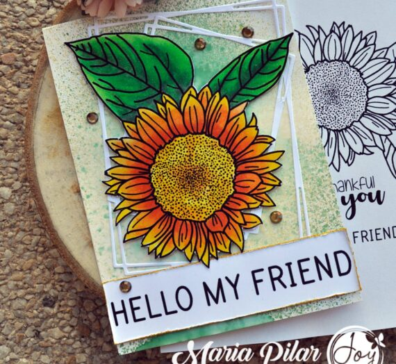 Beautiful sunflower card