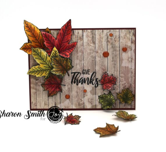 Fall Leaves Stamped Card