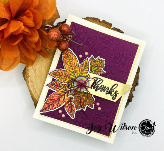 Dot Coloring Technique for Autumn Inspired Card