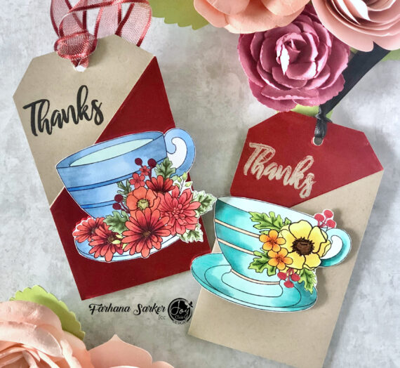 Gift card tags using Cup of Joy stamp set