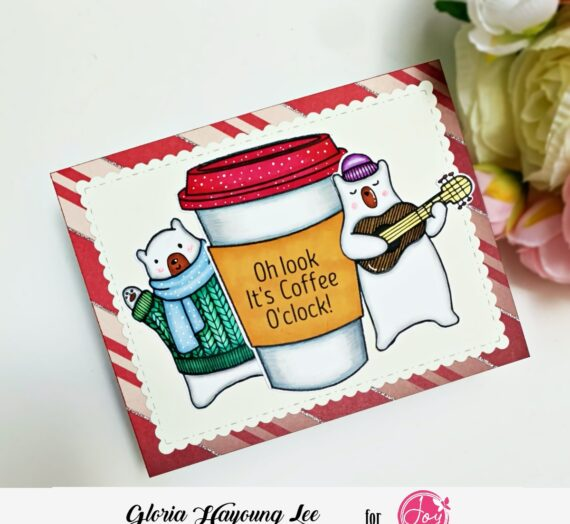 Coffee cup Christmas card