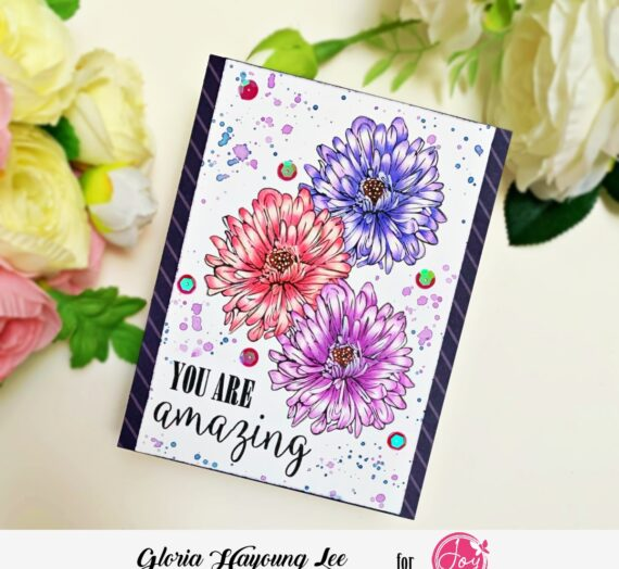 Color pencil coloring with You Are digital stamp set