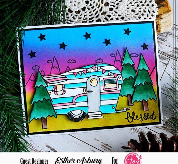 Happy Camper Stamped Card