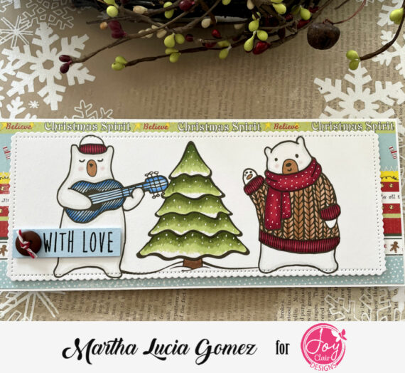 Winter Card with Digital Stamps