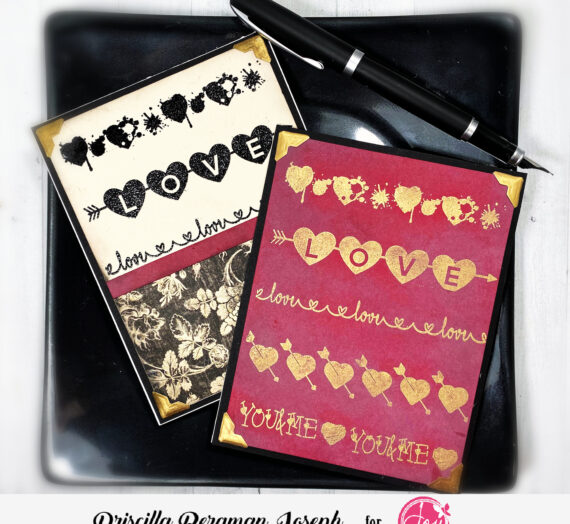 "Valentine Cards with a Hint of ""Vintage"""