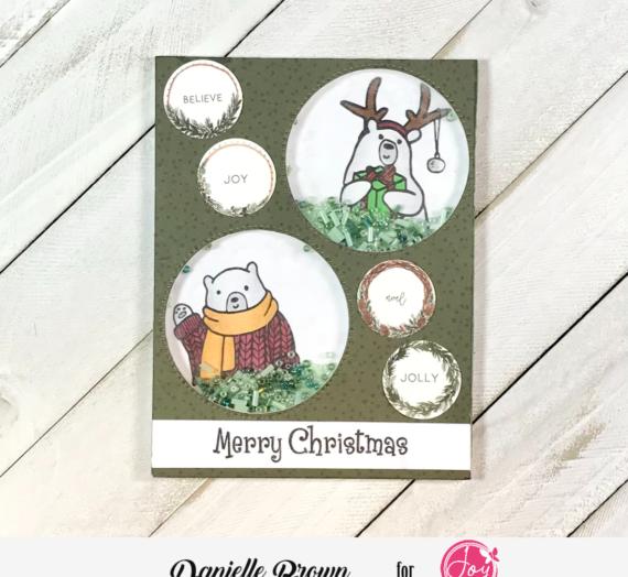 Merry Christmas Shaker Card Idea