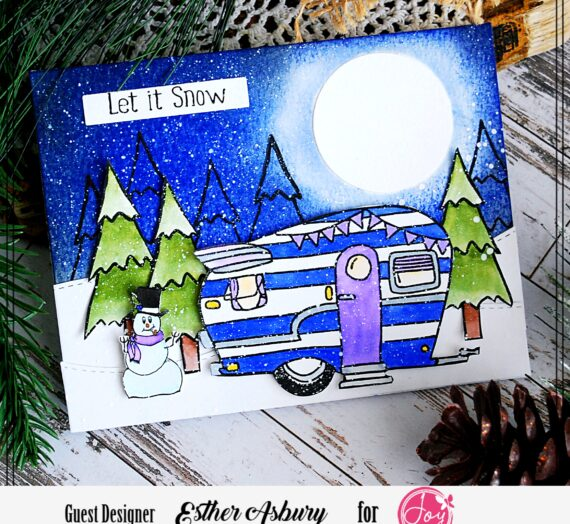 Winter Camper Stamped Card