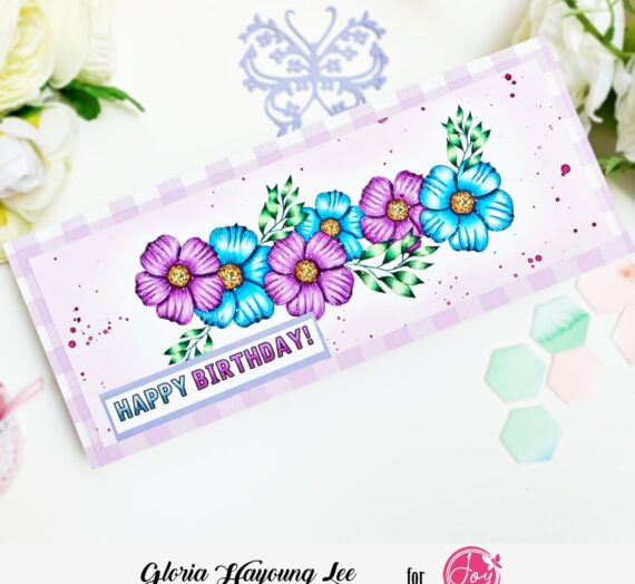 Slimline card with Spring Bouquet