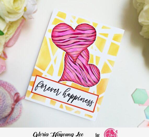 Stencil background Full heart card
