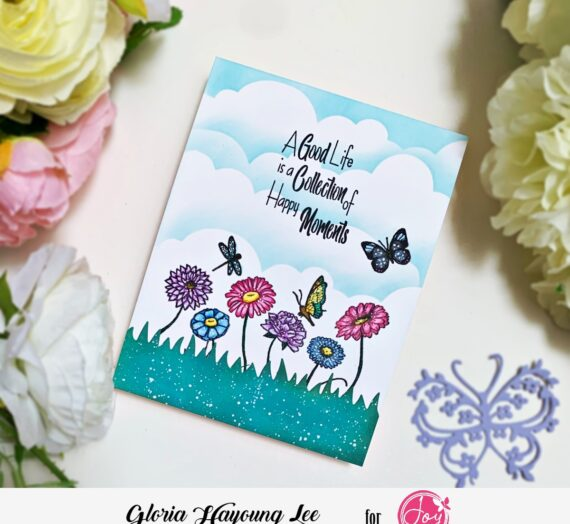 blending background card with wish big stamp