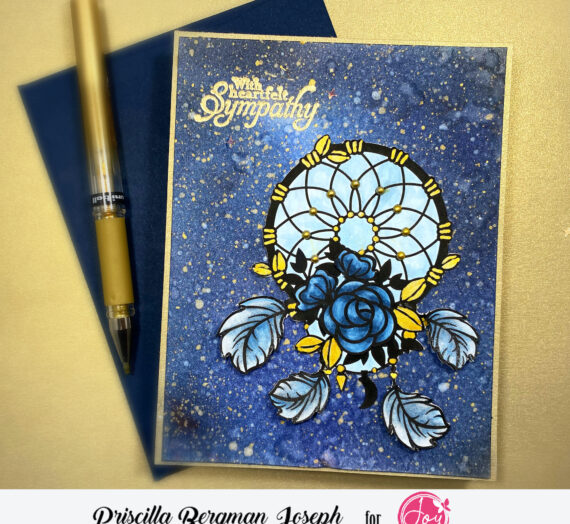Floral Catcher Sympathy Card | Galaxy Background
