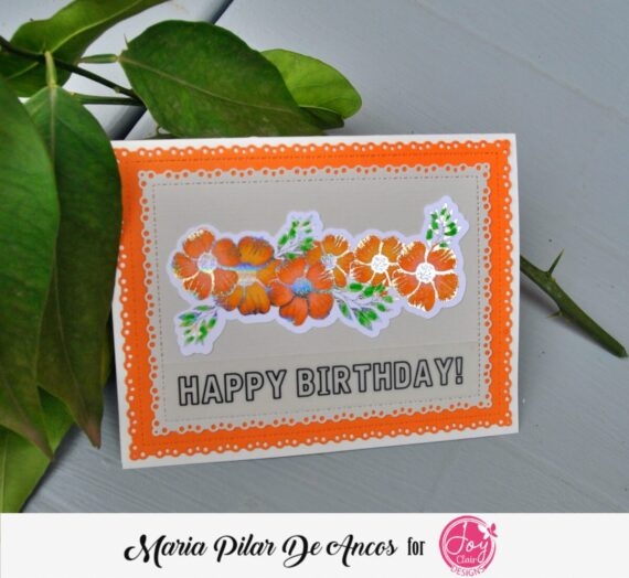 Layered card with foil