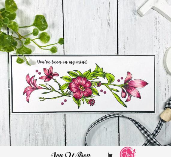 Spring Bouquet Slimline Card
