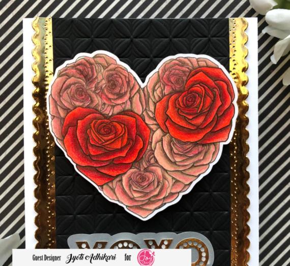 XOXO Card with Full Heart