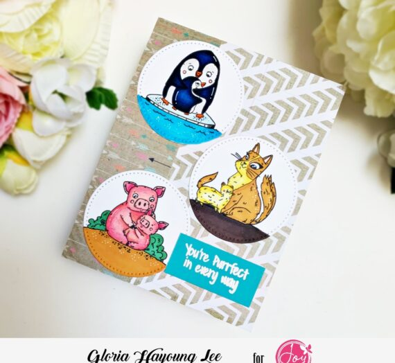 Circle frames Mother's day card