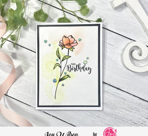 Water Coloring with Floral Friendship