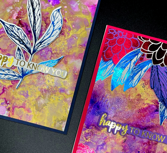 Foiling and alcohol inks