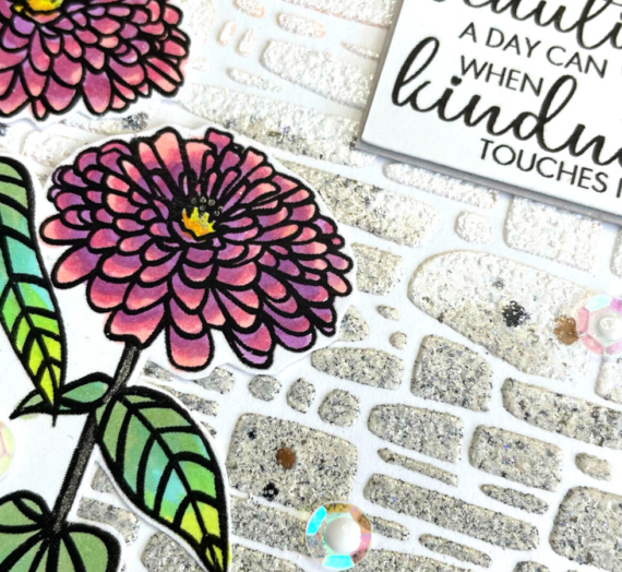 Digital Stamps with an Embossed Background