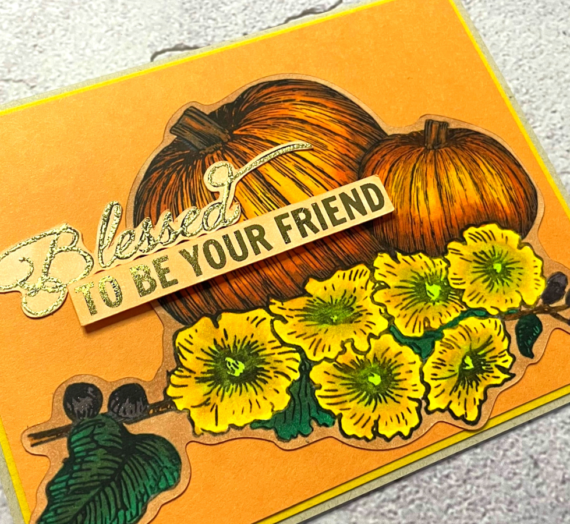 Fall Card with Embossed Sentiment
