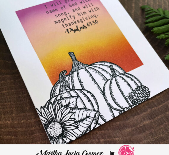 Pumpkin Stamped Card by Martha Lucia
