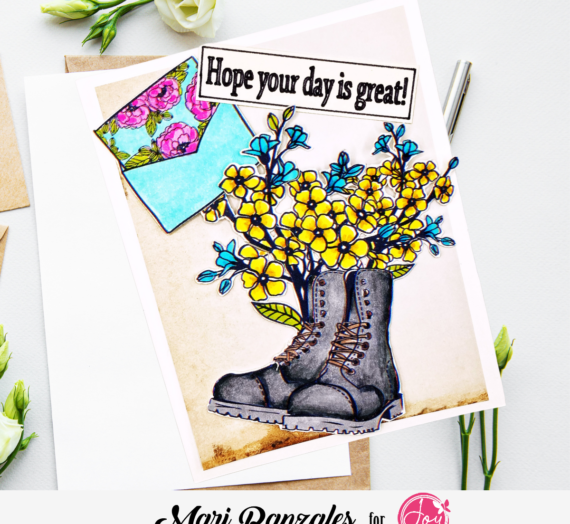 Wonderful Boots, Flowers and Envelope