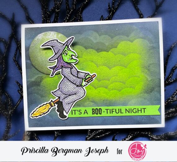 """""""It's a BOO-tiful Night"""" Halloween Card"""