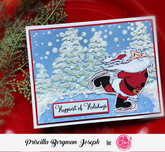 Skating Santa Holiday Card