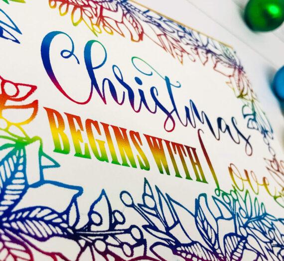 Quick Foil Christmas Card with Christmas Joy