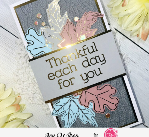 Thank You Card With Unexpected Autumn Colors